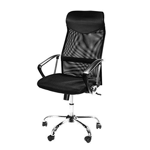 Design Bürostuhl Mit Kopfstütze Netzrücken Wippfunktion Armlehne