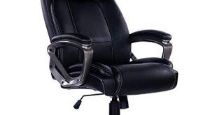 Bosmiller chefsessel burostuhl Drehstuhl Ergonomische hohe Rückenlehne aus Leder Exklusiver Computer-Schreibtisch Bürostuhl Computerstuhl Sitzhöhenverstellung Office Stuhl