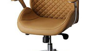 212621 Bürodrehstuhl Designer Drehstuhl Chefsessel PANTERA sand ClassicCarSeat